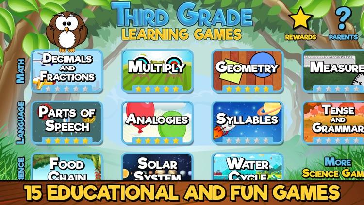 Third Grade Learning Games screenshot-0