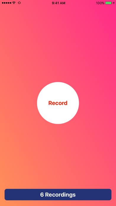 Voice Recorder - Record And Share Audio Memos Screenshot on iOS