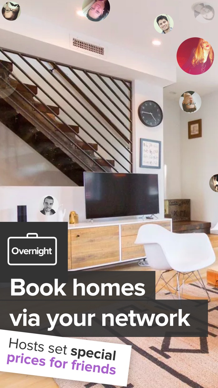 Overnight – Book homes with special friends rates. Screenshot