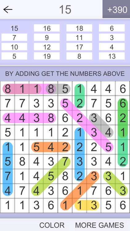 Hidden Numbers Math Game