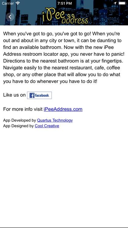 iPee Address - Restroom Finder screenshot-4