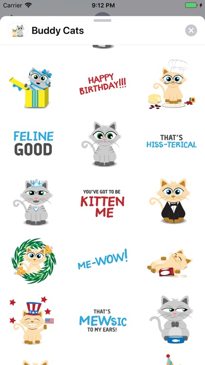 Buddy Cats Sticker Pack screenshot-3