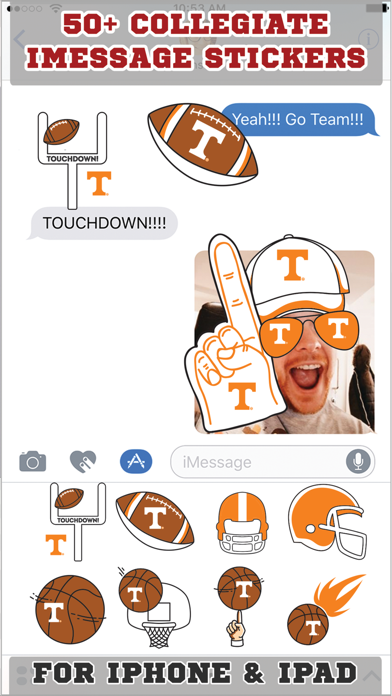 Tennessee Volunteers Stickers PLUS for iMessageScreenshot of 1