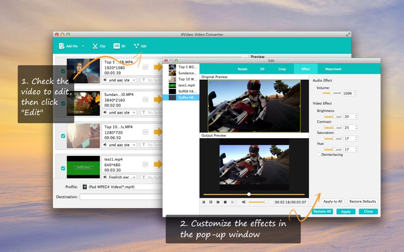 视频转换软件 4Video Video Converter   for Mac