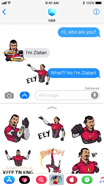 Zlatan Legends Stickers