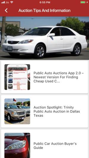 Car Auction Apps >> Public Auto Auctions On The App Store
