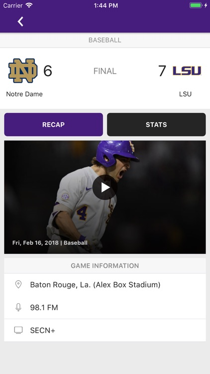 LSU Sports Mobile screenshot-3