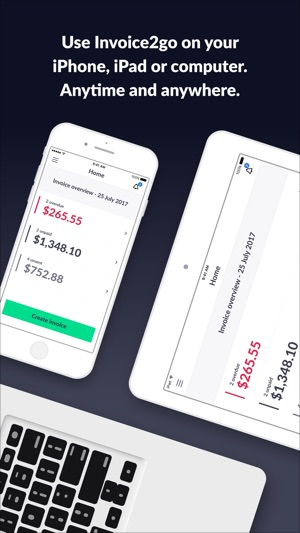 Invoice Go Invoice Estimate On The App Store - Invoice generator software free best online clothing stores for men