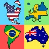 国旗 - 全世界の大陸の国旗 : 新しい地理クイズ - iPadアプリ