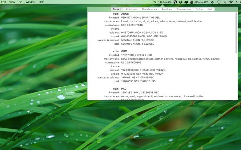 2masternode monitor скриншот программы 1