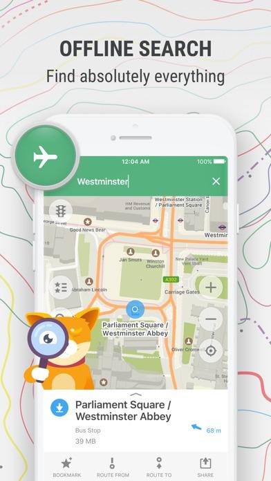 Mapsme Offline Map Nav review screenshots