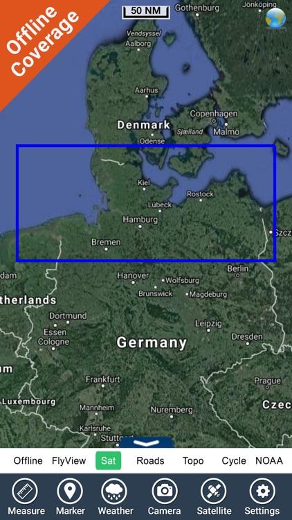 Germany HD GPS Nautical Chart screenshot-6