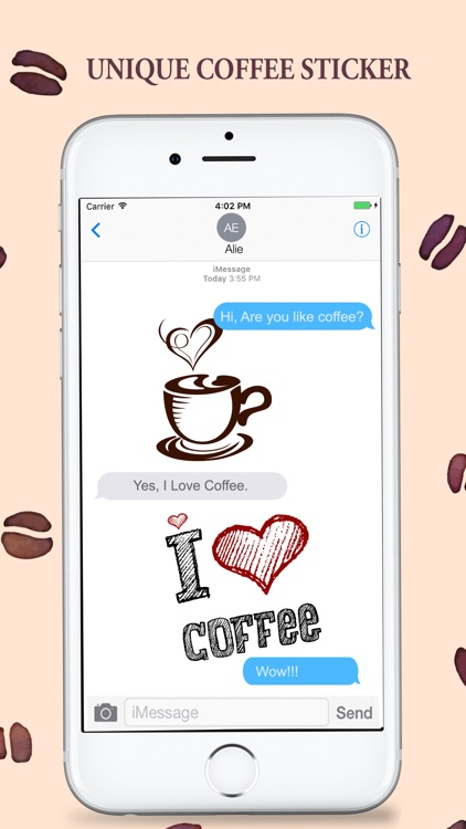 Coffee Stickers Pack for iMessage screenshot-3
