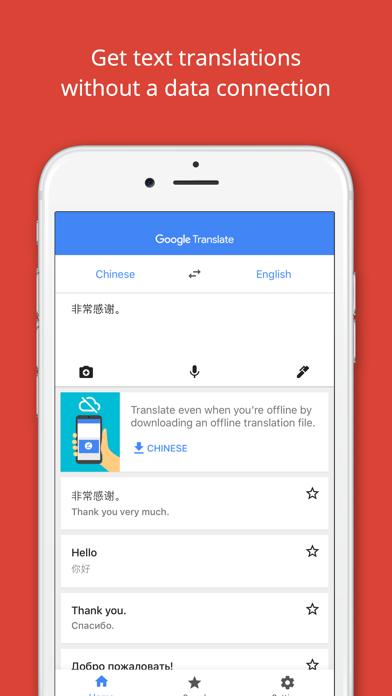 Screenshot 1 for Google Translate's iPhone app'
