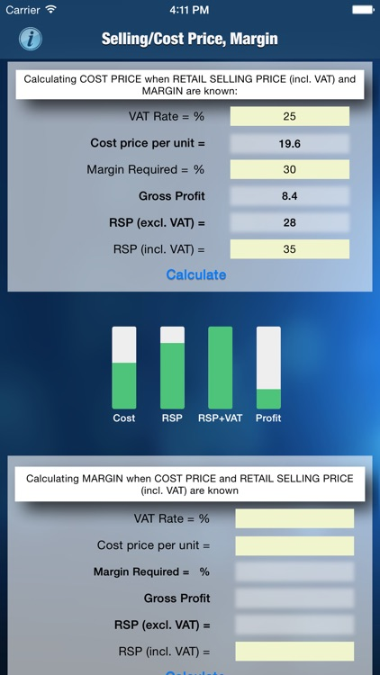 Margin/Selling/Cost Calculator