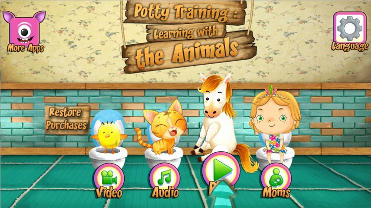 Potty Training With Animals screenshot-0