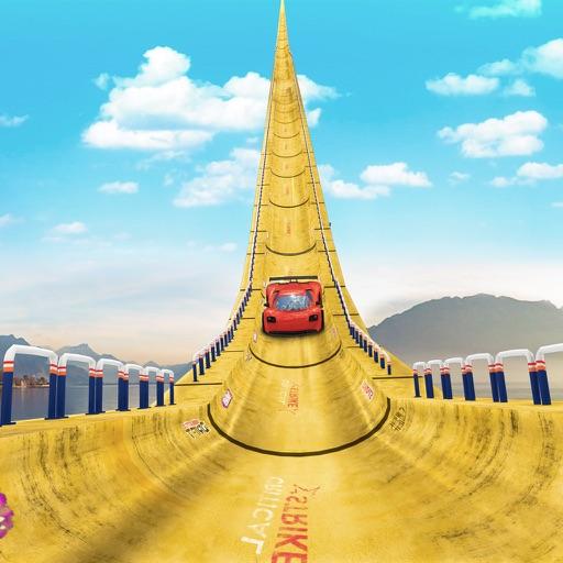 Car Stunts Vertical Mega Ramp