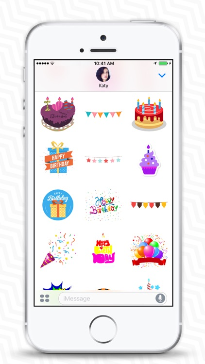 Birthday Stickers & Birthday Wishes - iMessage