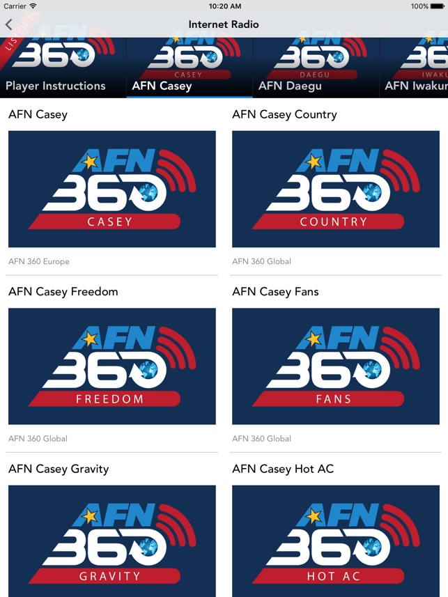 AFN Pacific」をApp Storeで