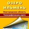 Озеро Ильмень. Топографическая карта.