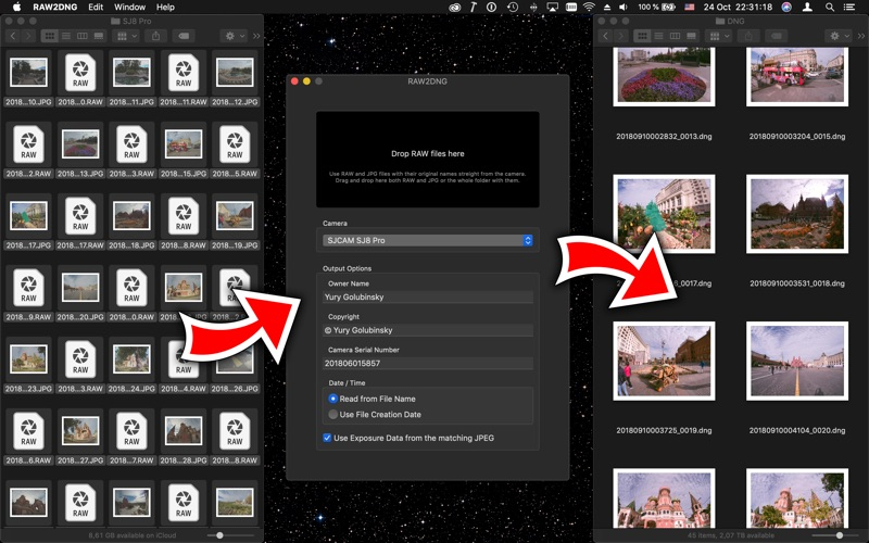 RAW2DNG for Mac
