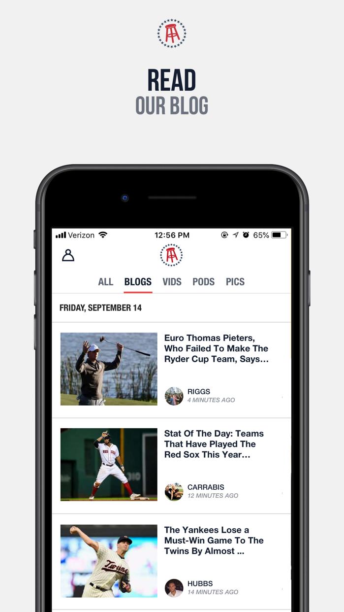 Barstool Sports Screenshot