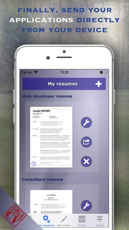 giga-cv Your resume screenshot-4
