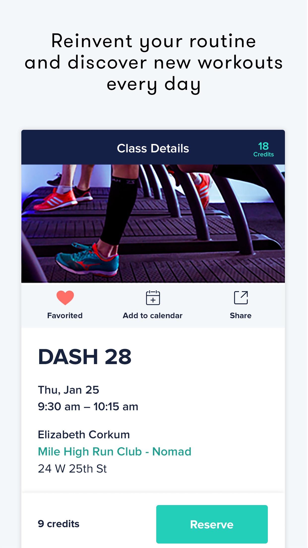 ClassPass Screenshot