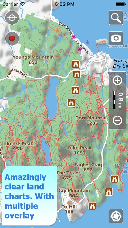 Acadia Trails, GPS Hiking maps