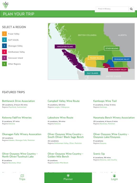 Wines of BC Trip Planner Скриншоты6