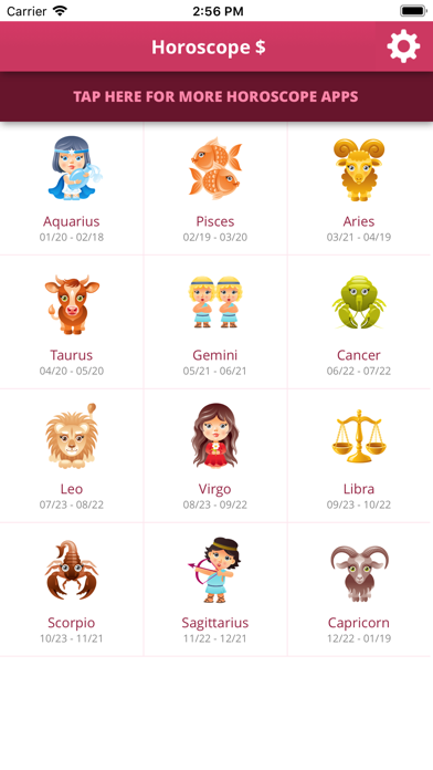 Horoscope $ review screenshots