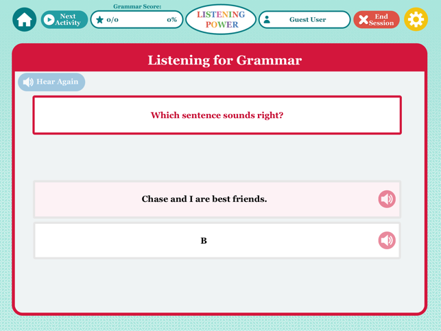 ‎Listening Grades 4-8+ LITE HD Screenshot
