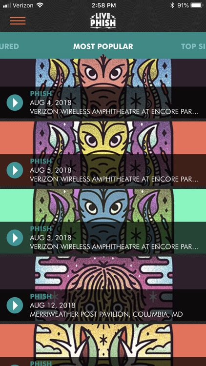 LivePhish screenshot-2
