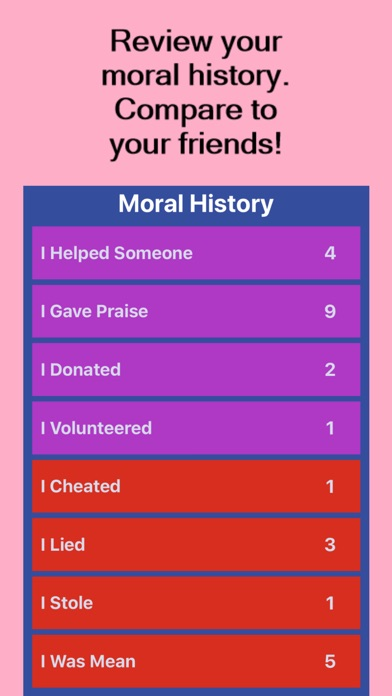 Screenshot of Moral Compass App