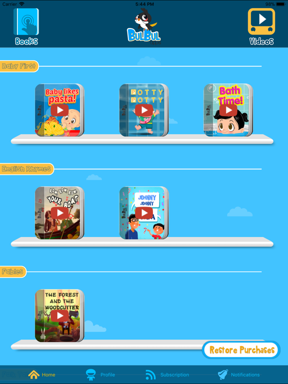 Bulbul - Bedtime Stories and Rhymes for kids screenshot