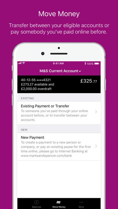 M&S Banking screenshot four