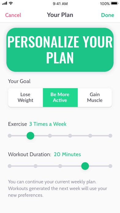 30 Day Fitness Challenge Log app image