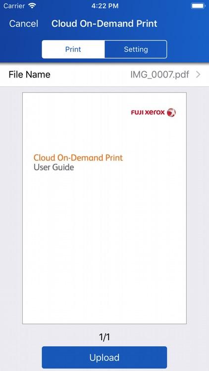 Cloud On-Demand Print by Fuji Xerox Co , Ltd