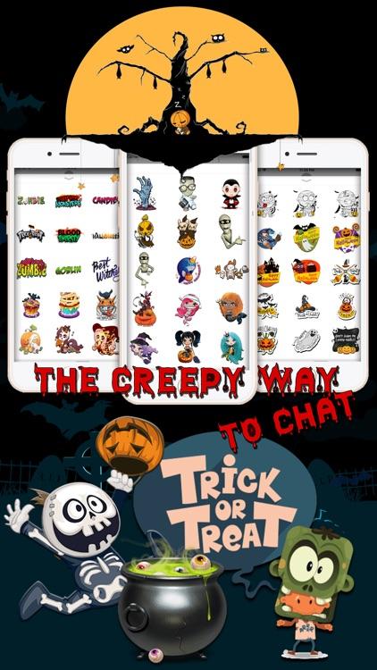 Spooky Halloween Cartoon Emoji screenshot-3