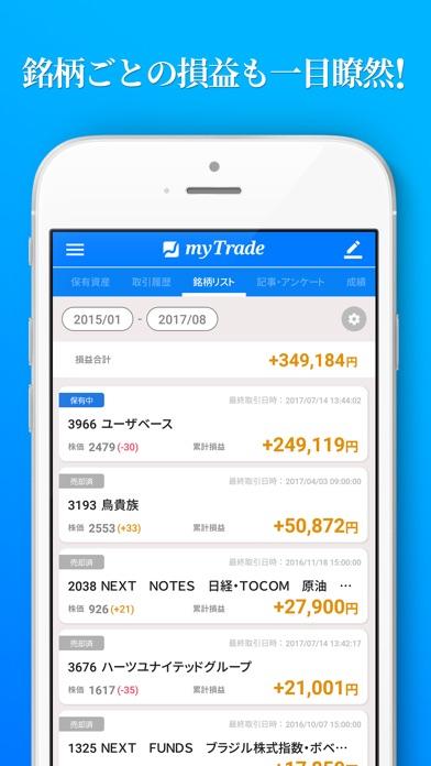 投資管理マイトレード-株式投資を自動で記録分析スクリーンショット