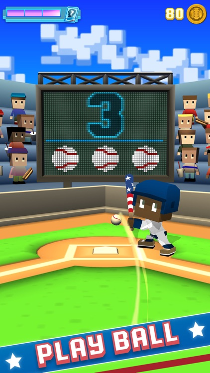 Blocky Baseball: Home Run Hero screenshot-0