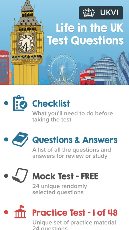 Life in the UK Test Questions