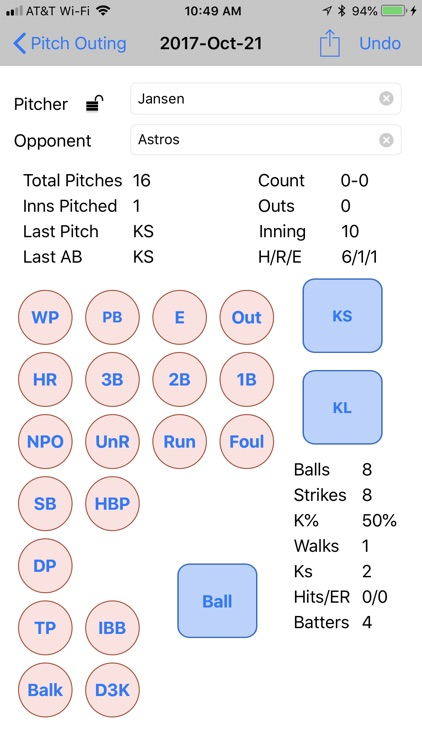 Full Count Pitch Counter