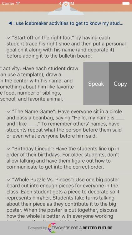 Classroom Checklist K-6