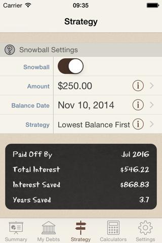 Debt Manager screenshot 3