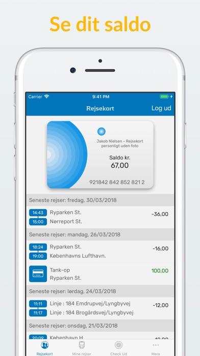 Screenshot for Rejsekort + CheckUd in Denmark App Store