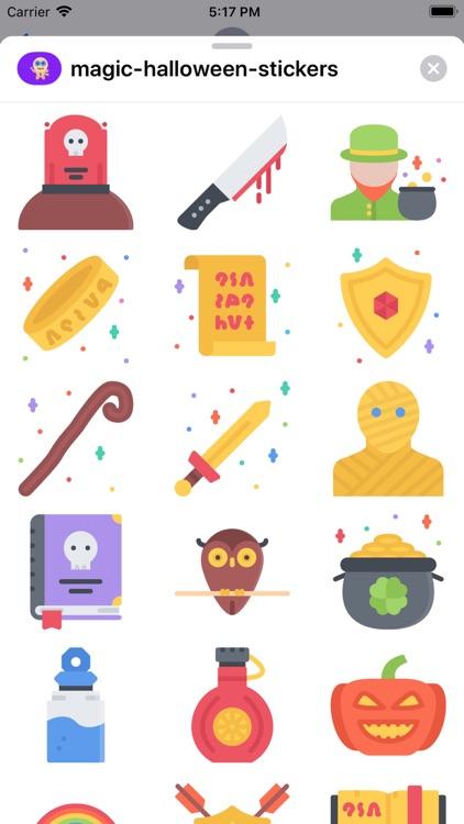 Magic Halloween Stickers screenshot-5