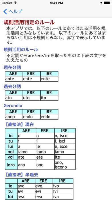 イタリア語動詞活用表by Mk System Laboratory Ios United