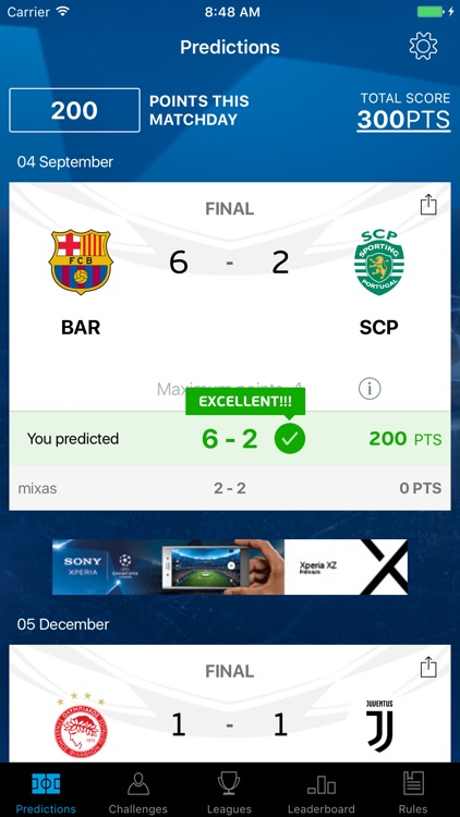 UCL Predictor screenshot-1
