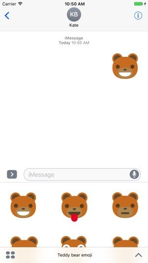 teddy bear emoji on the app store